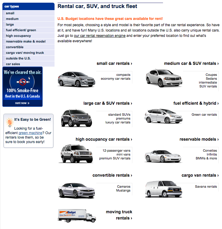Budget Car Rental Vehicle Sales