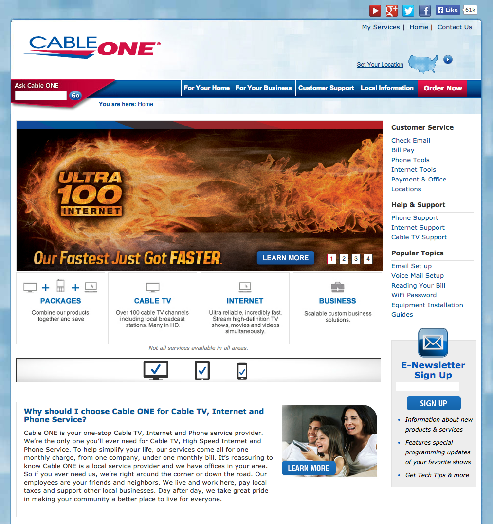 Top 176 Complaints and Reviews about Cable ONE
