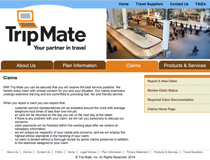 Tripmate Travel Insurance Policy