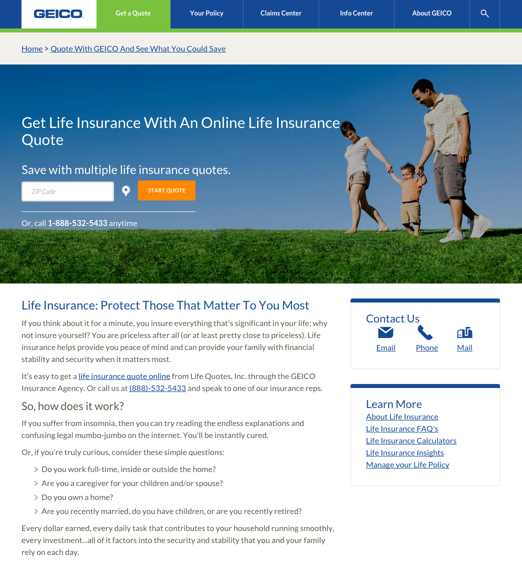 Life Insurance Quote Online: Top 31 Reviews And Complaints About Geico Life Insurance