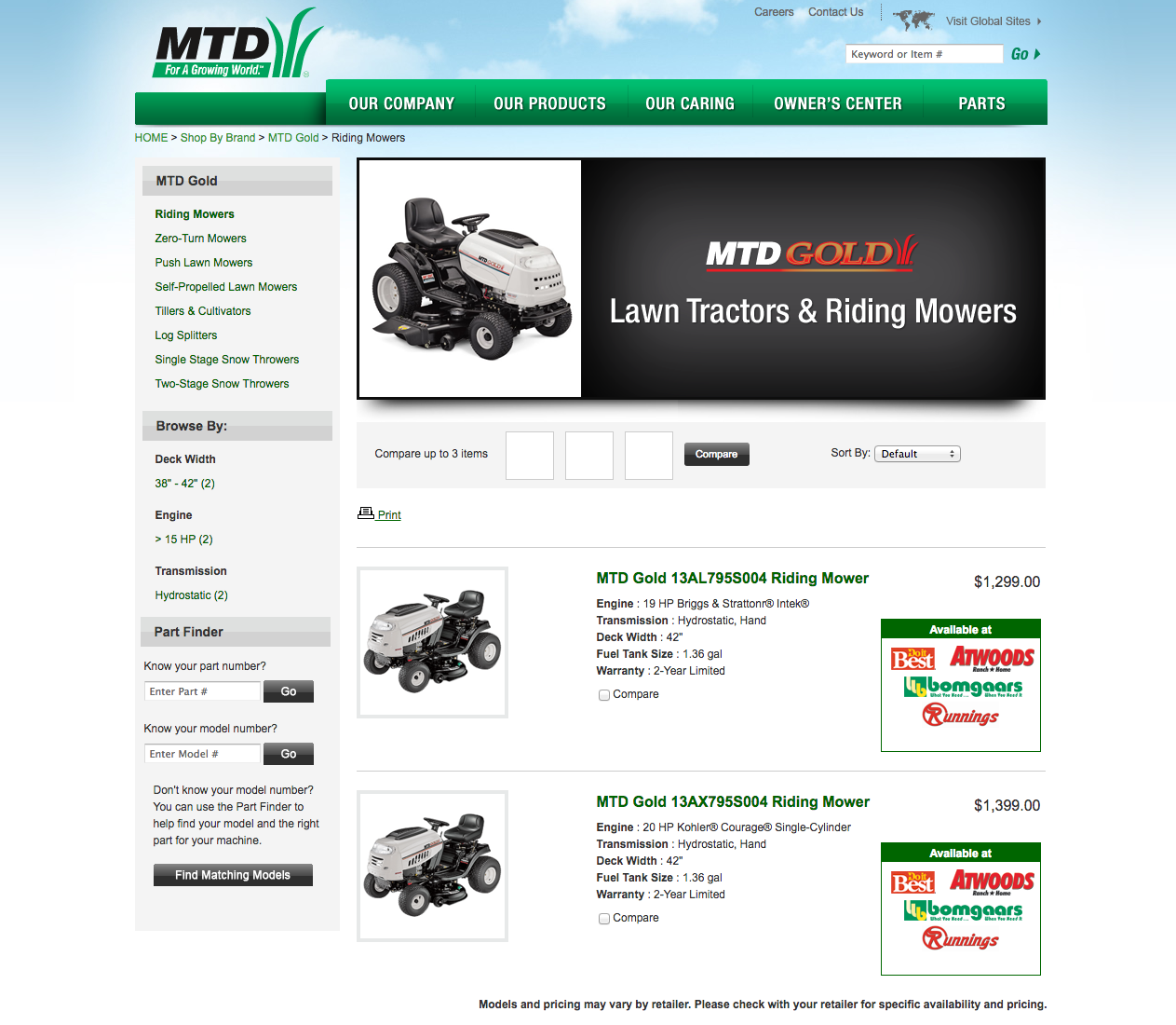 Shop mtd 42 in deck drive belt for riding lawn mowers at lowes com - Mtd Images Mtd Homepage About Mtd Mtd Lawn Tractors Riding Mowers