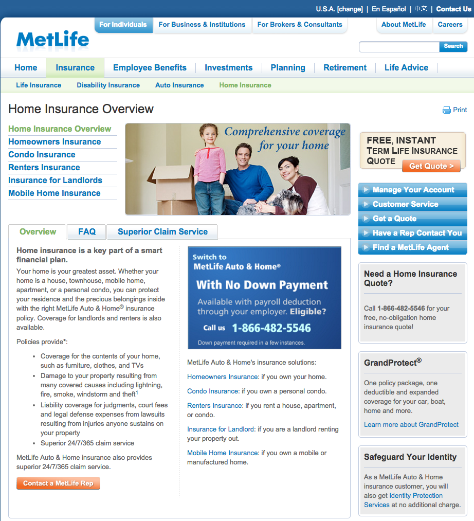 Reasons To Avoid Certain Insurance coverage Companies Metlife_Homeowners_homepage