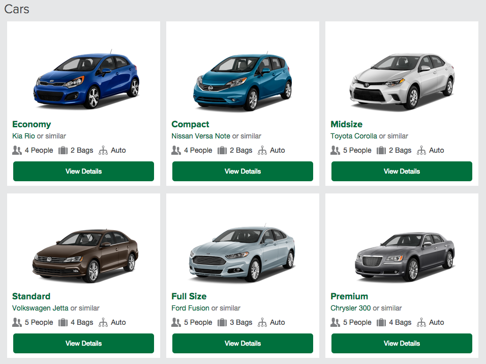 Enterprise Economy Car List
