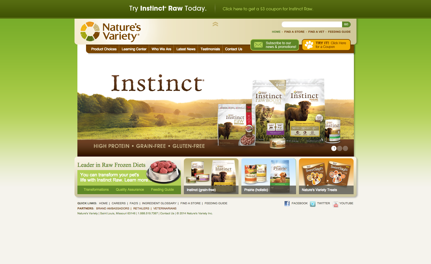 Nature's Variety Instinct Cat Food Review 2019 {Guide ...