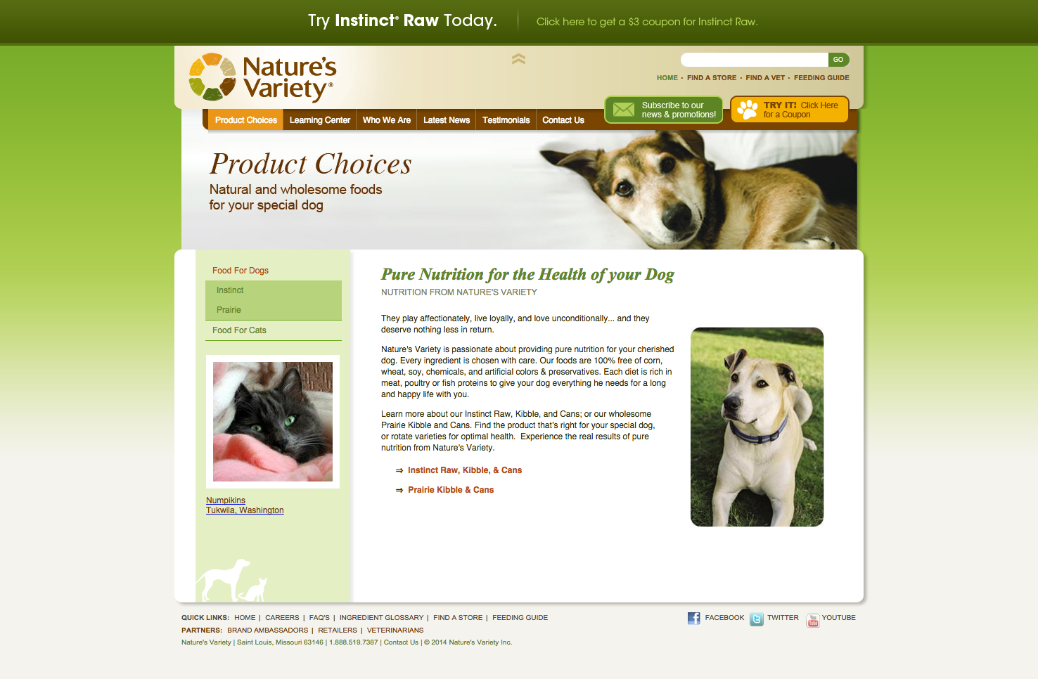 Nature's Variety Dog Food Review & Ingredients Analysis