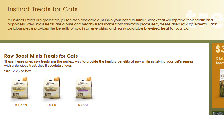 CatFoodDB - Nature's Variety Instinct Cat Food Reviews