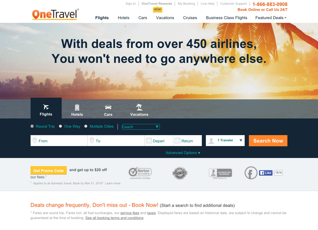 Top 623 Complaints and Reviews about OneTravel