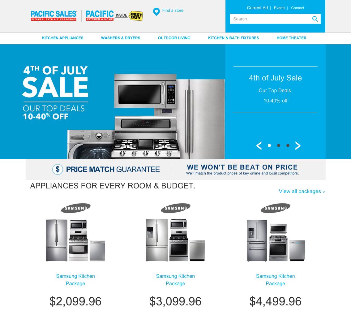 Appliances: Pacific Sales Appliances