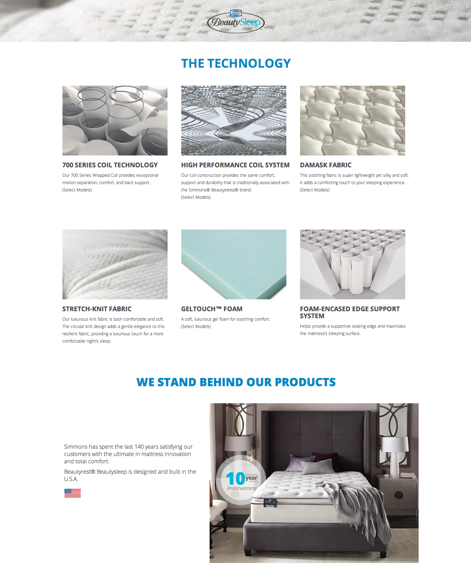 Simmons Mattresses Images Homepage About Beauty Sleep
