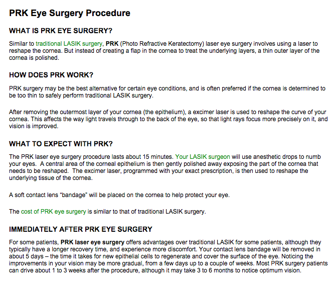 lasik eye surgery procedure pdf