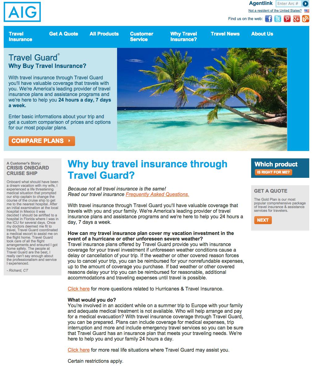 Travel Insurance Travel Guard Trip Insurance Medical