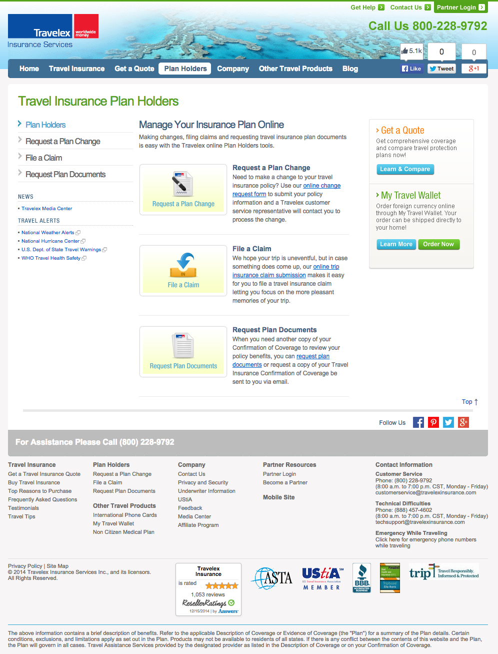 Top 2 Complaints And Reviews About Travelex Insurance Services