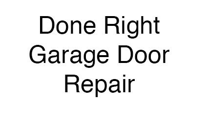 Done Right Garage Door Repair logo