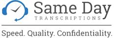 Same Day Transcriptions logo