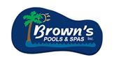 Brown's Pools & Spas logo