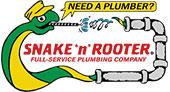 Snake 'n' Rooter Plumbing Company logo