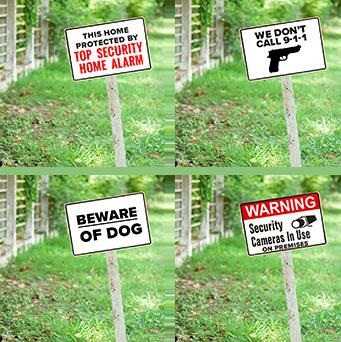 Yard Signage Options Used In Survey