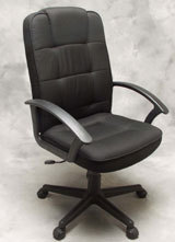 New The recalled executive office chairs include the model with black leather and the model with black fabric Underneath the seat cushion the