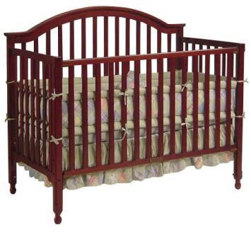 Picture of Recalled 3 -1 Lexington Crib - Cherry Model # DA1614B3