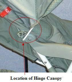 Picture Showing Location of Hinge Canopy