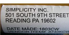 Picture of End Panel Label