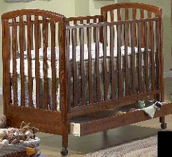 Picture of Recalled Nina Pine Model Number 710 Crib