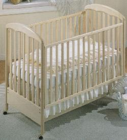 Picture of Recalled Silver Model Number 485 Crib