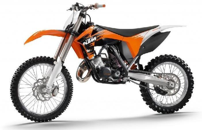 Picture of recalled XC, SX and XC-W Off-Road Motorcycle models