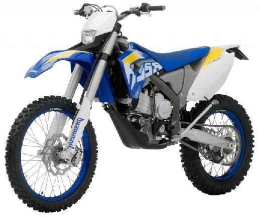 Picture of recalled 390 FE and 450 FE Off-Road Motorcycle models
