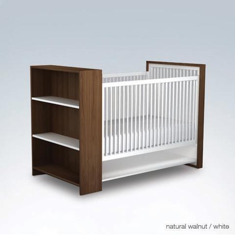 Picture of recalled natural walnut/white AJ crib