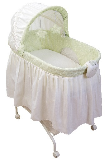 Picture of KB021-ARC- Tender Vibes Travel Bassinet (lime green cover)