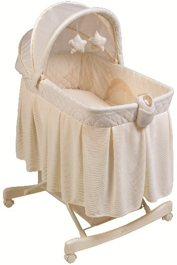 Picture of KB043-BNT1- Light Vibes Deluxe Rocking Bassinet
