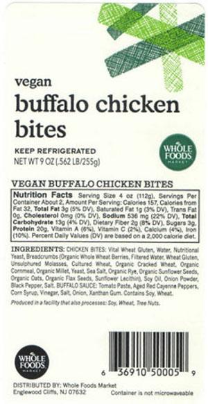Sunneen Health Foods Recalls Vegan Buffalo Chicken Bites