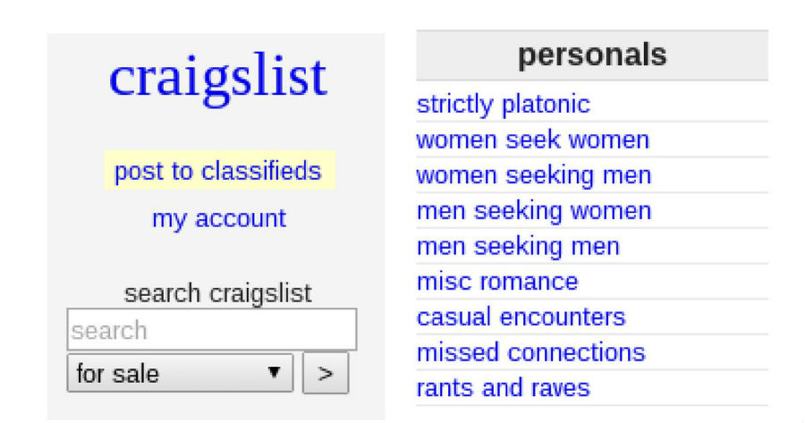 Craigslist dating service