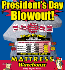 pages weekly presidents deals american mattress sale day week