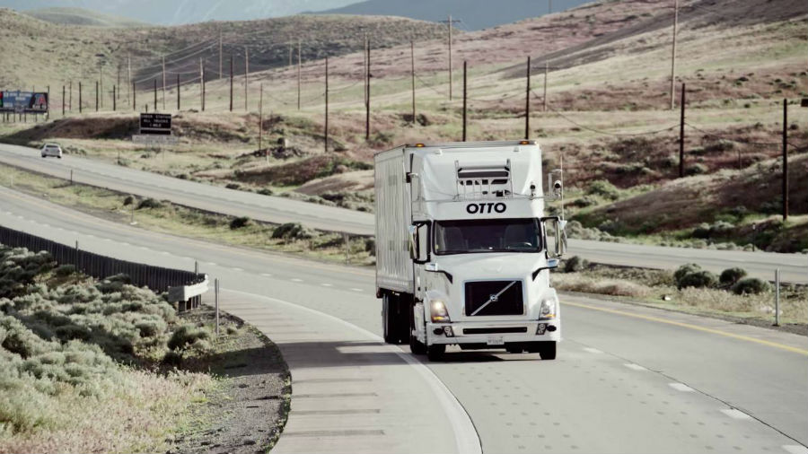 self driving trucks