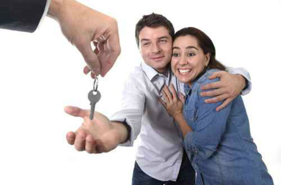 Image result for young couple buying a house