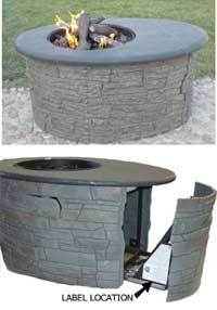 Recalled fire pit