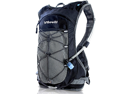 backpack with water bottle