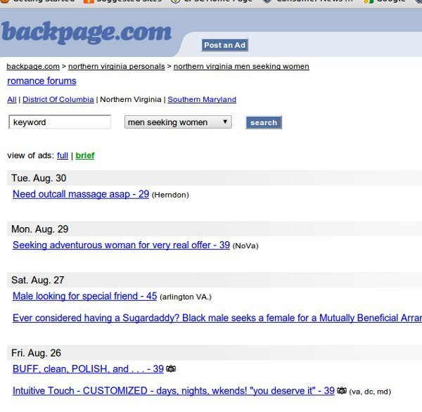 Www backpage com south carolina