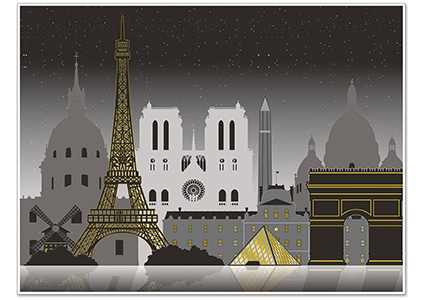 beistle paris cityscape picture