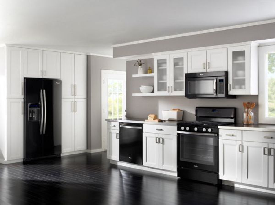 Decorating around black appliances