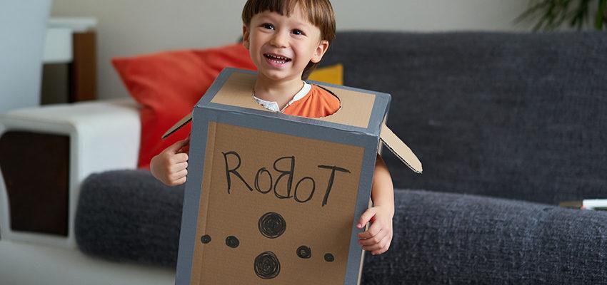 boy in robot costume