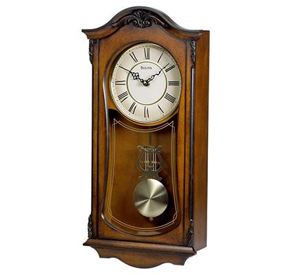 bulova wooden clock