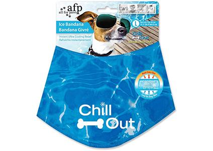 chill out dog ice bandana