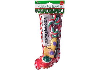 christmas dog stocking