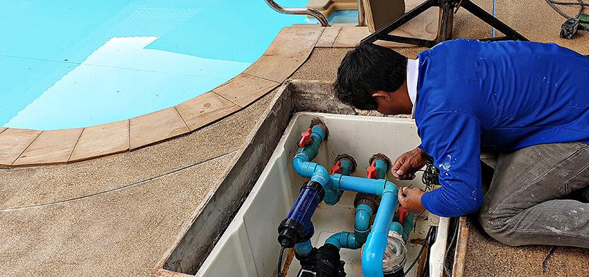 contractor fixing pool