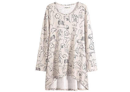 dog graphic print tunic