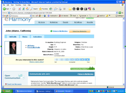 internet dating scams eharmony