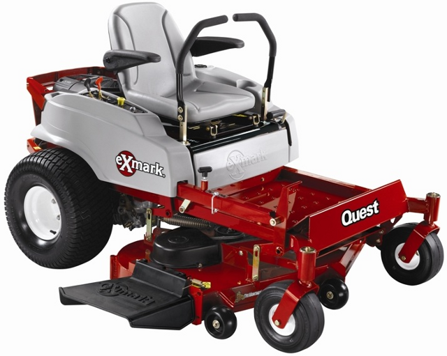 """this recall involves 2009-2010 exmark quest zrt riding mowers with 42-inch  mower decks, model number """"qst20be422"""" and serial numbers ranging from  790,000"""